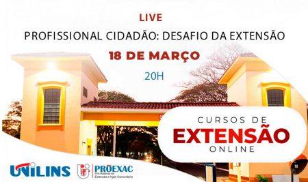 Profissional Cidadão será tema de live da Proexac