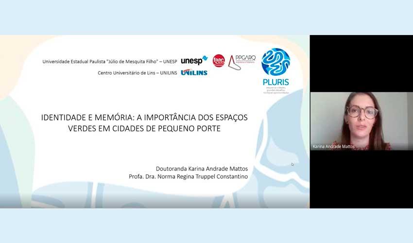 Coordenadora de Arquitetura apresenta trabalho em Congresso Digital - UNILINS