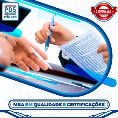 MBA em Qualidade e Certificações - UNILINS