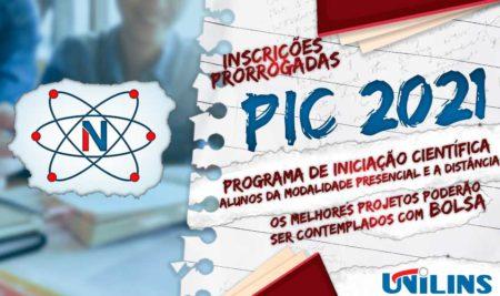Programa de Iniciação Científica inscrições prorrogadas até o dia 16/07/2021