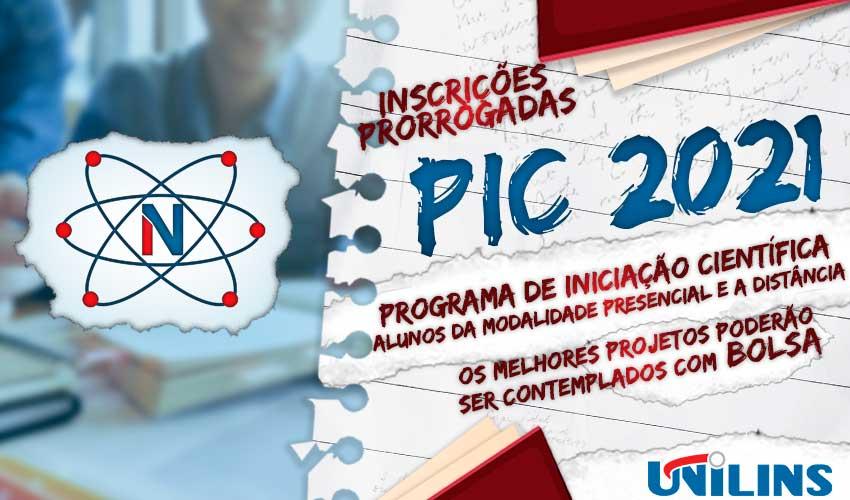 Programa de Iniciação Científica inscrições prorrogadas até o dia 16/07/2021 - UNILINS