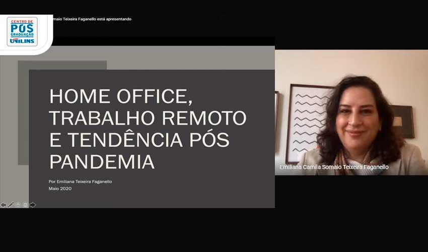 Live da Pós-Graduação aborda Trabalho Remoto - UNILINS