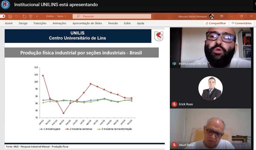 Pós-Graduação realizou palestra online sobre Macroeconomia e Covid19 - UNILINS