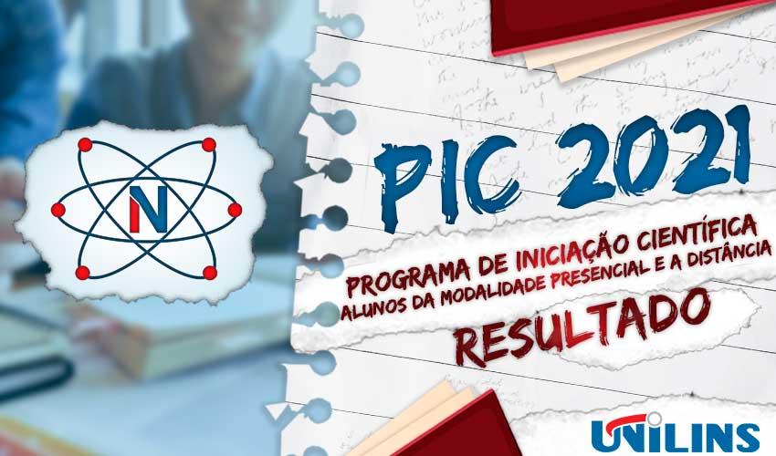 Relação dos Projetos Aprovados PIC 2021/2022