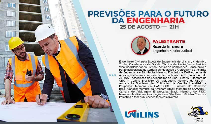 Futuro da engenharia é tema de live da Unilins - UNILINS