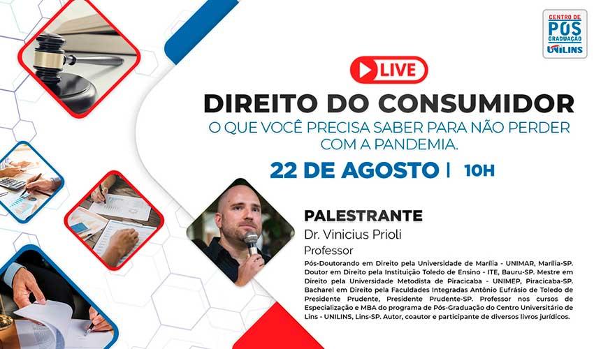 Direito do Consumidor na Pandemia será live da Pós-Graduação - UNILINS