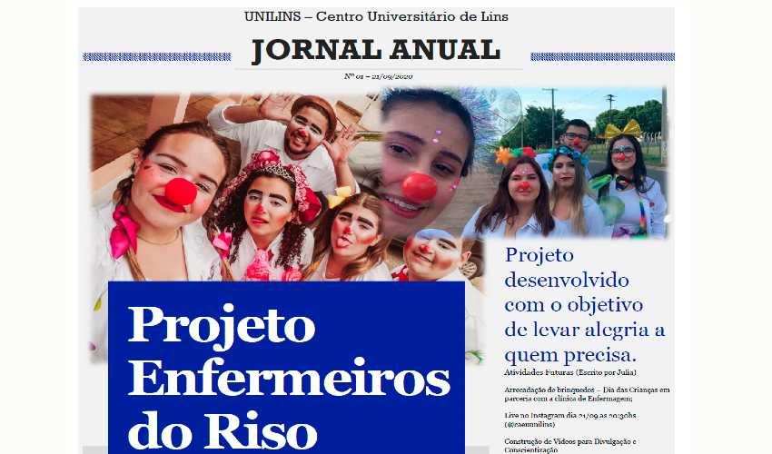Projeto Enfermeiros do Riso comemora 1 ano - UNILINS