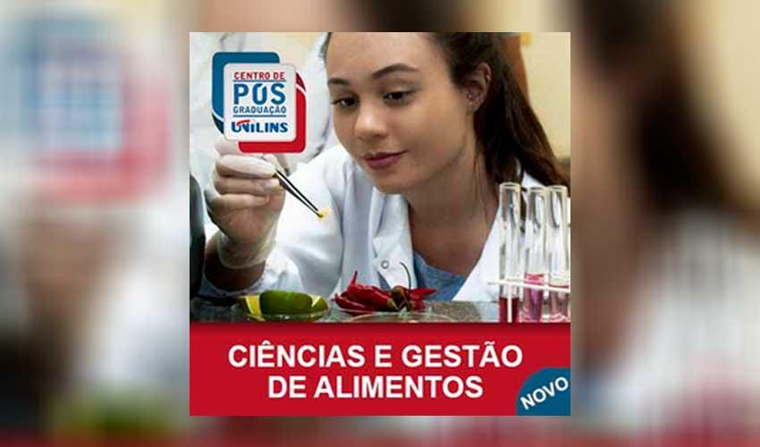 Pós-Graduação em Ciência e Gestão de Alimentos - UNILINS