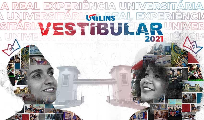Inscrições abertas para o Vestibular Unilins 2021 - UNILINS