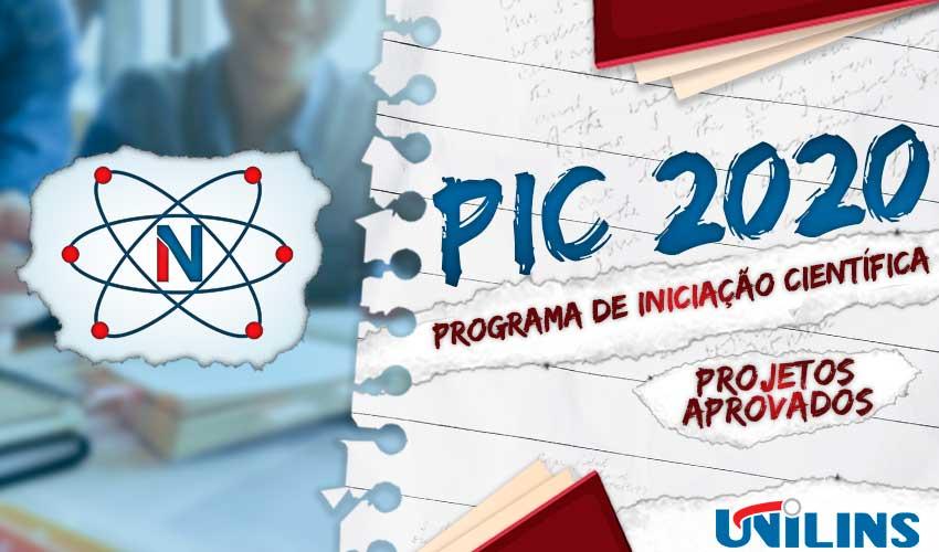 Relação dos Projetos Aprovados PIC 2020/2021 - UNILINS