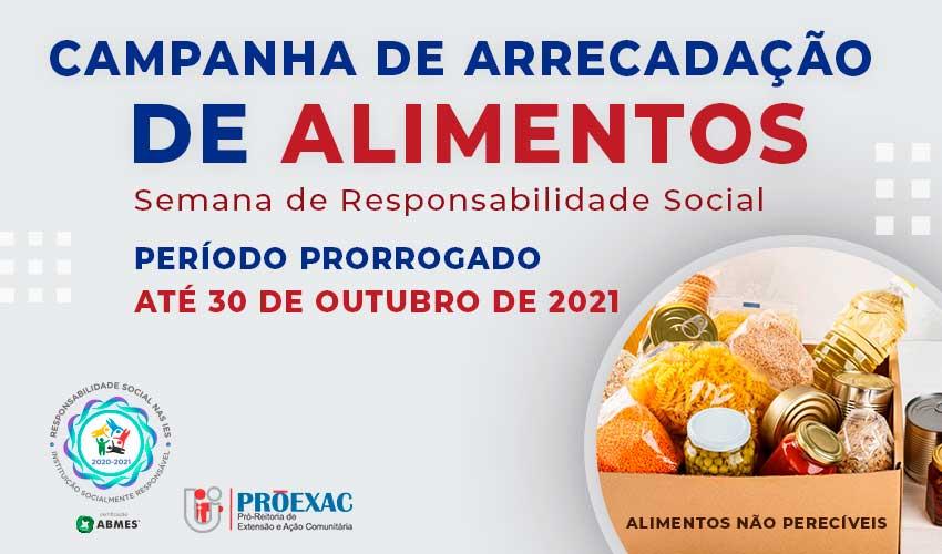 Semana de Responsabilidade Social arrecadará alimentos não perecíveis - UNILINS